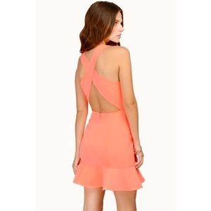 TOBI | NWT Neon Strappy Open Back Ruffle Dress S